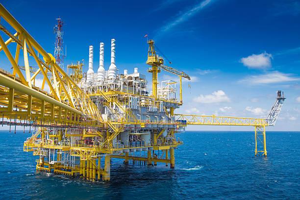 Öl und Gas-business in Küstennähe Welt Energie. – Foto