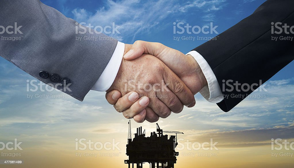 Oil and Gas Business deal stock photo