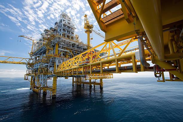 Öl und gas Design in offshore – Foto