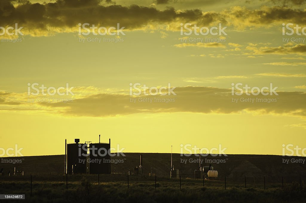 Oil and Gas Exploration in Wyoming royalty-free stock photo