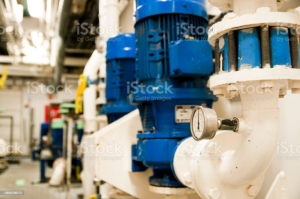 Oil and Gas Industrial Engineering Interior stock photo
