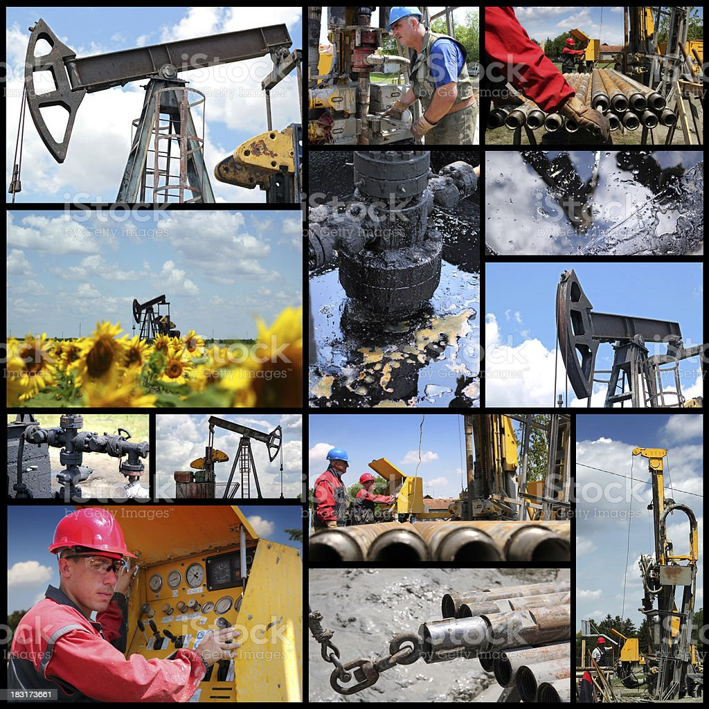 Oil And Gas Industry - Collage royalty-free stock photo
