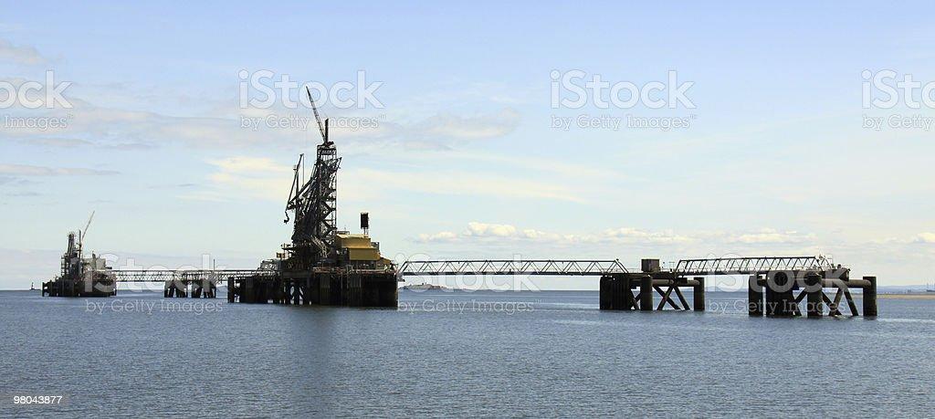 Settore petrolifero e del gas del Firth of Forth, Scozia foto stock royalty-free