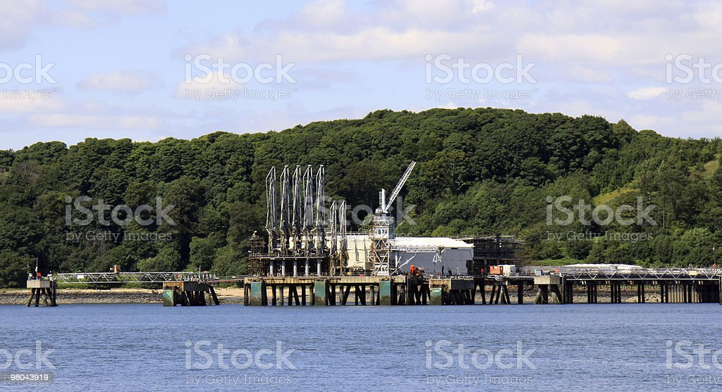 Settore petrolifero e del gas del Firth of Forth, Scozia foto stock royalty-free
