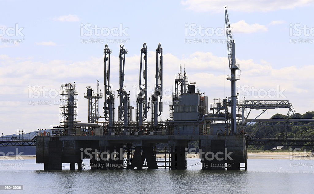 Oil and gas industry in the Firth of Forth, Scotland royalty-free stock photo