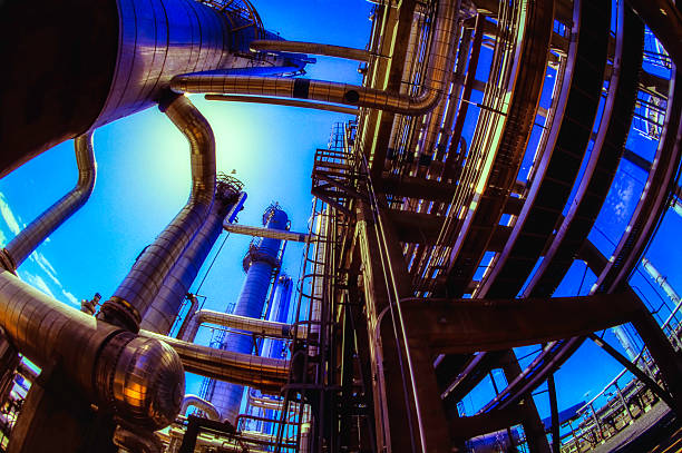Öl- und Gas-Industrie Low Angle – Foto