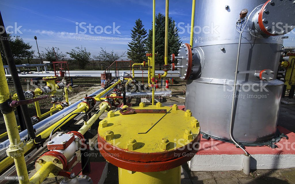 Oil and gas industry royalty-free stock photo