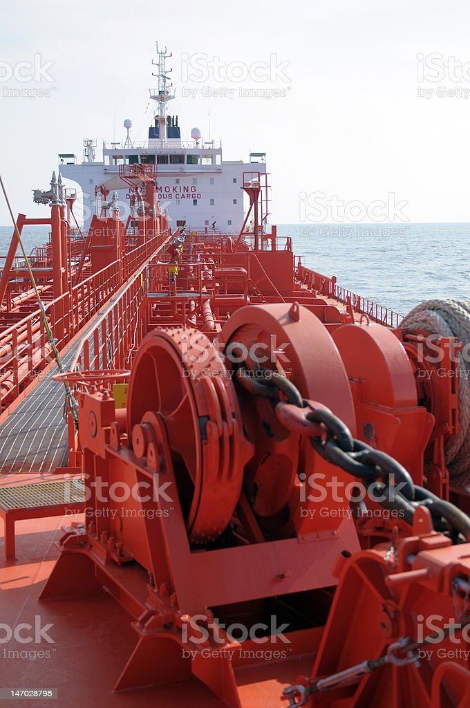 Oil and gas industry - tanker ship stock photo