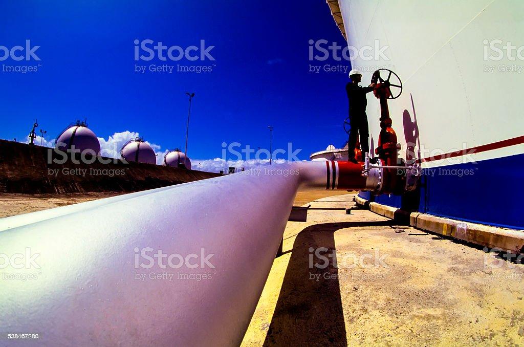 Öl- und Gas-Industrie Arbeiten Mann – Foto