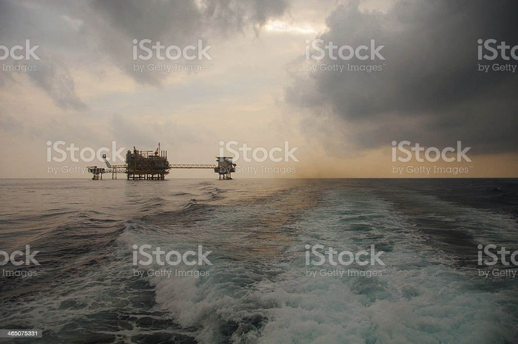 Oil and gas platform stock photo