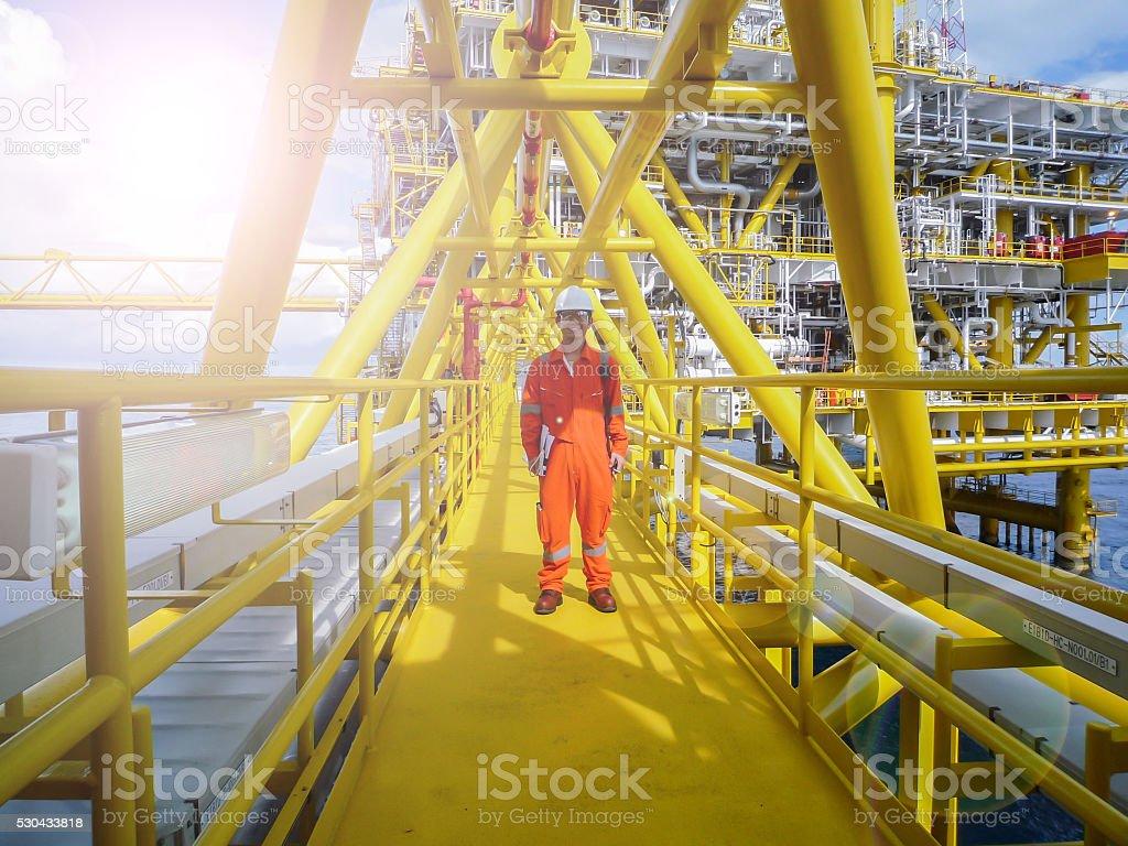 Öl und Gas-production plattform – Foto