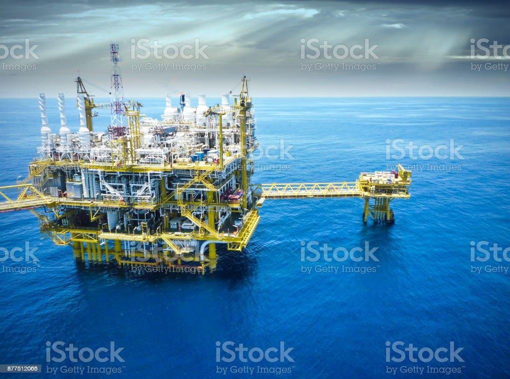 Öl und Gas, Rig, Plattform, offshore, Raffinerie – Foto