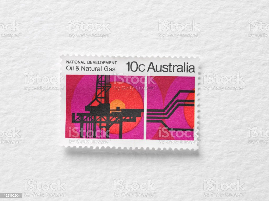 Oil and Natural Gas Stamp royalty-free stock photo