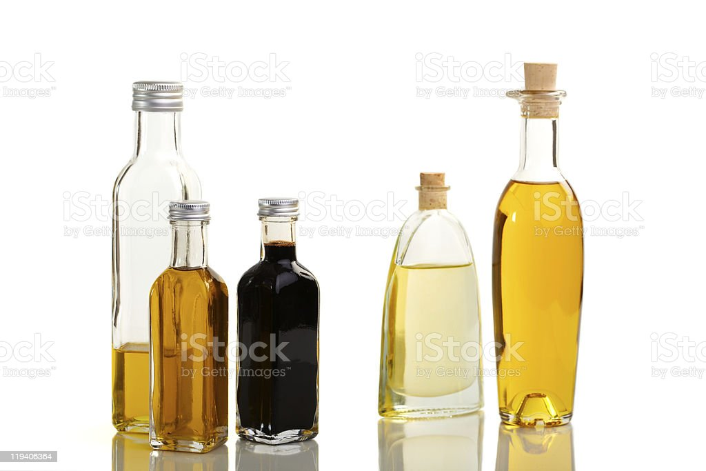 Oil and vinegar assortment royalty-free stock photo