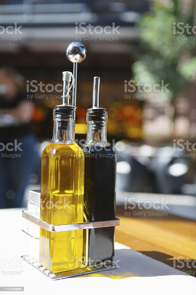 Oil and vinegar salad dressing royalty-free stock photo