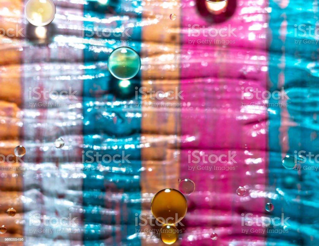 Olja och vatten blandning - Royaltyfri Abstrakt Bildbanksbilder