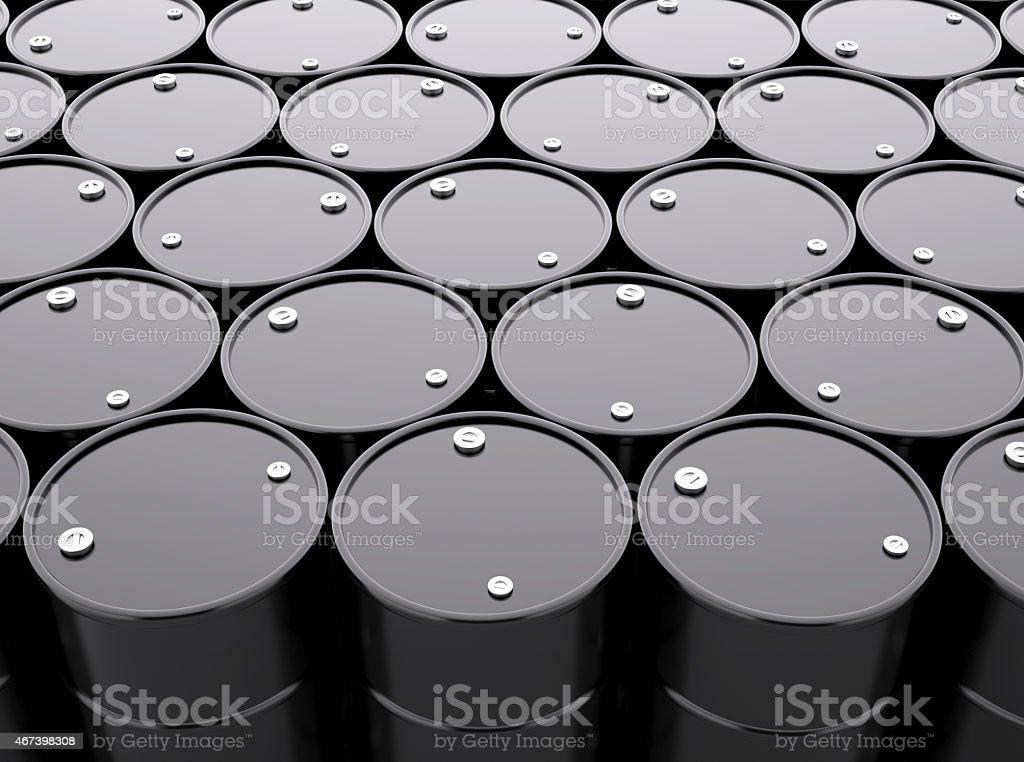 Oil Barrels Background stock photo