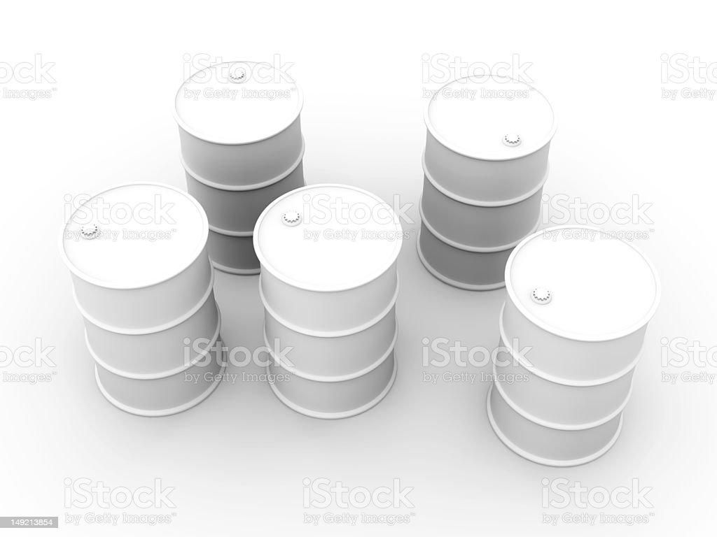 Oil Barrels royalty-free stock photo