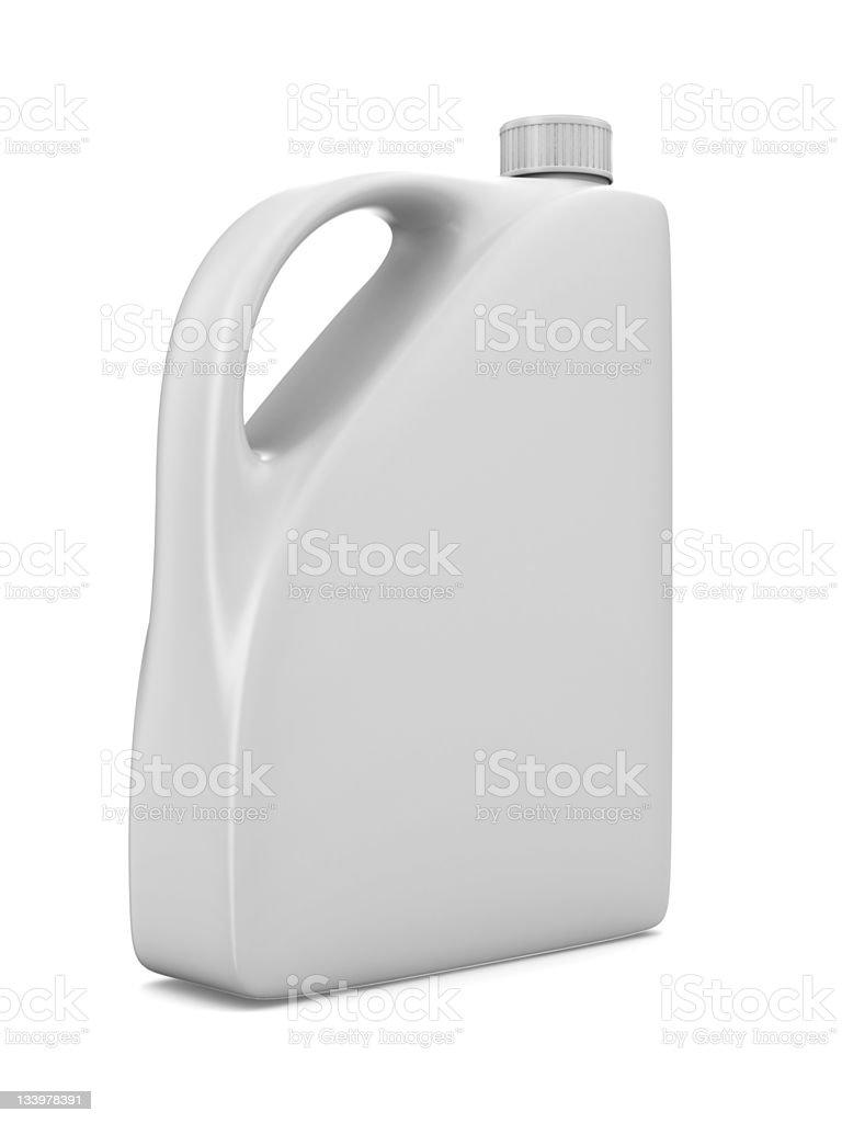 oil bottle on white background. Isolated 3D image stock photo