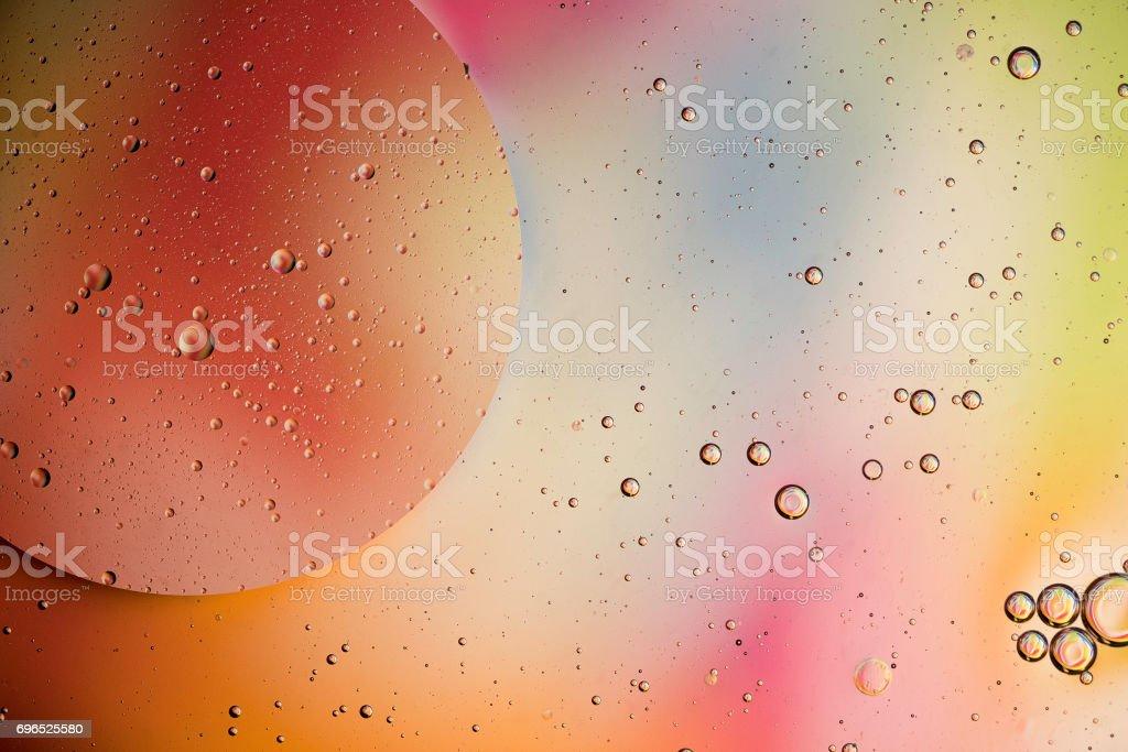 Oil bubbles stock photo