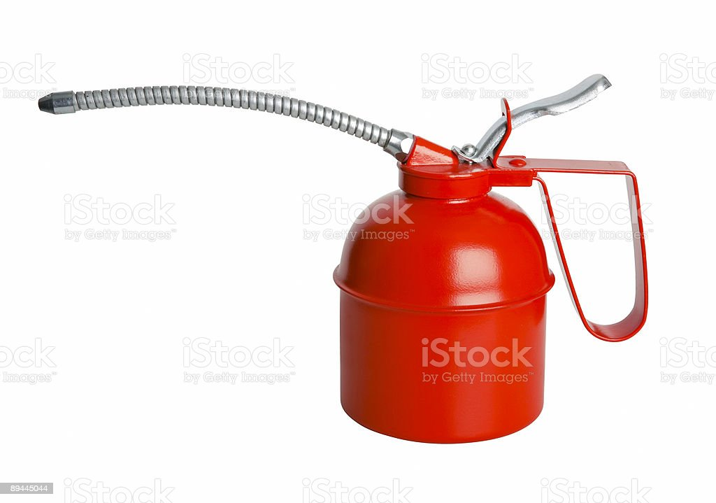 Oil can isolated with path royalty-free stock photo