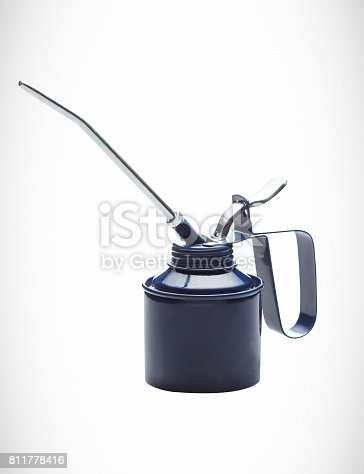 oil can for lubrications with steel spout