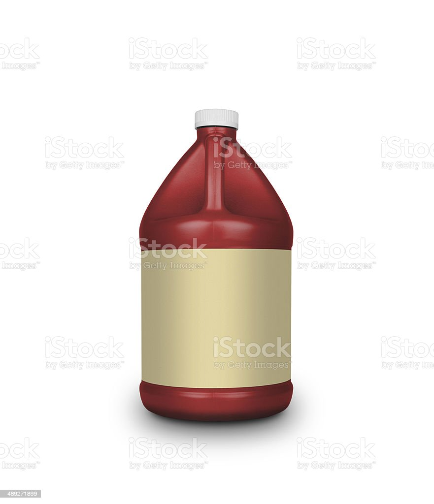 Oil canister isolated on a white background stock photo