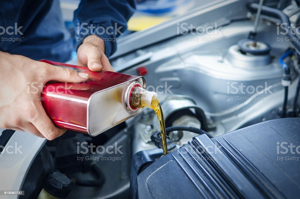 Oil change and car service stock photo