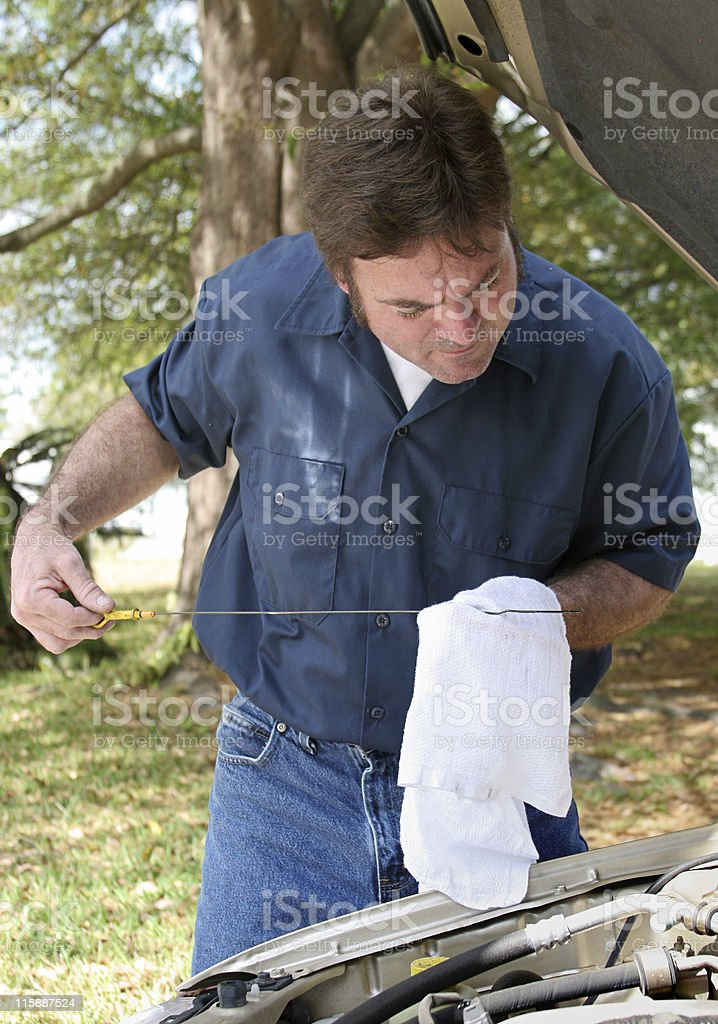 Oil Check royalty-free stock photo