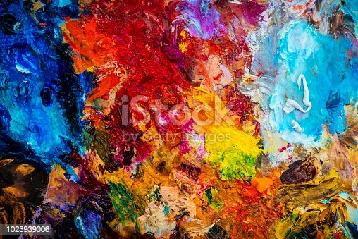 oil color palette with vivid colors