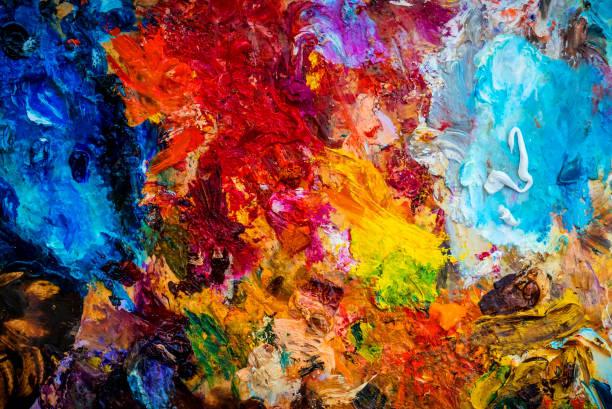 oil color palette - malarstwo zdjęcia i obrazy z banku zdjęć