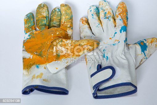 istock oil color,glove,paint brushes 523254138