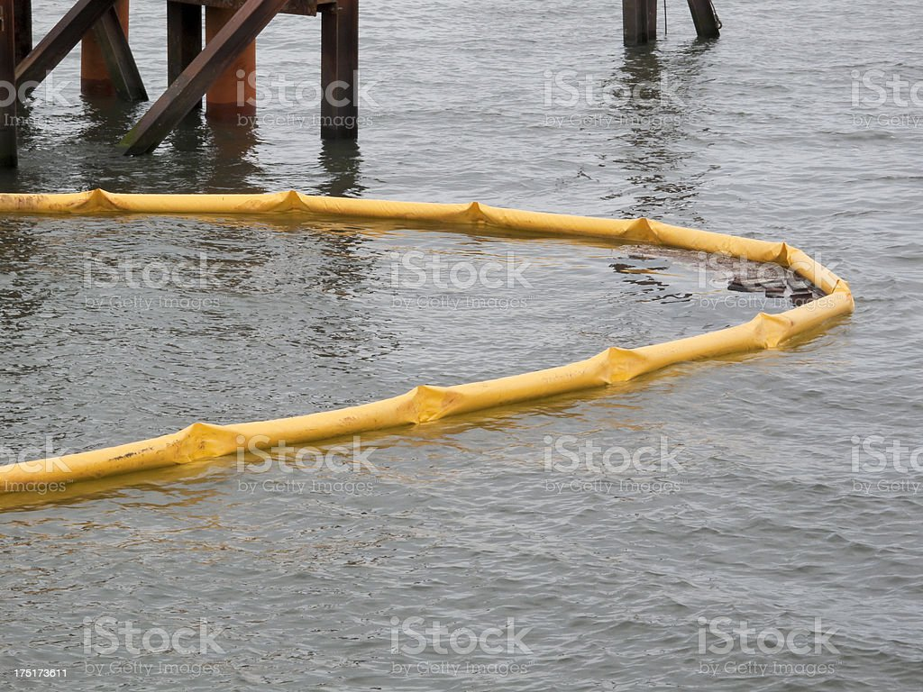 Oil Containment Boom stock photo