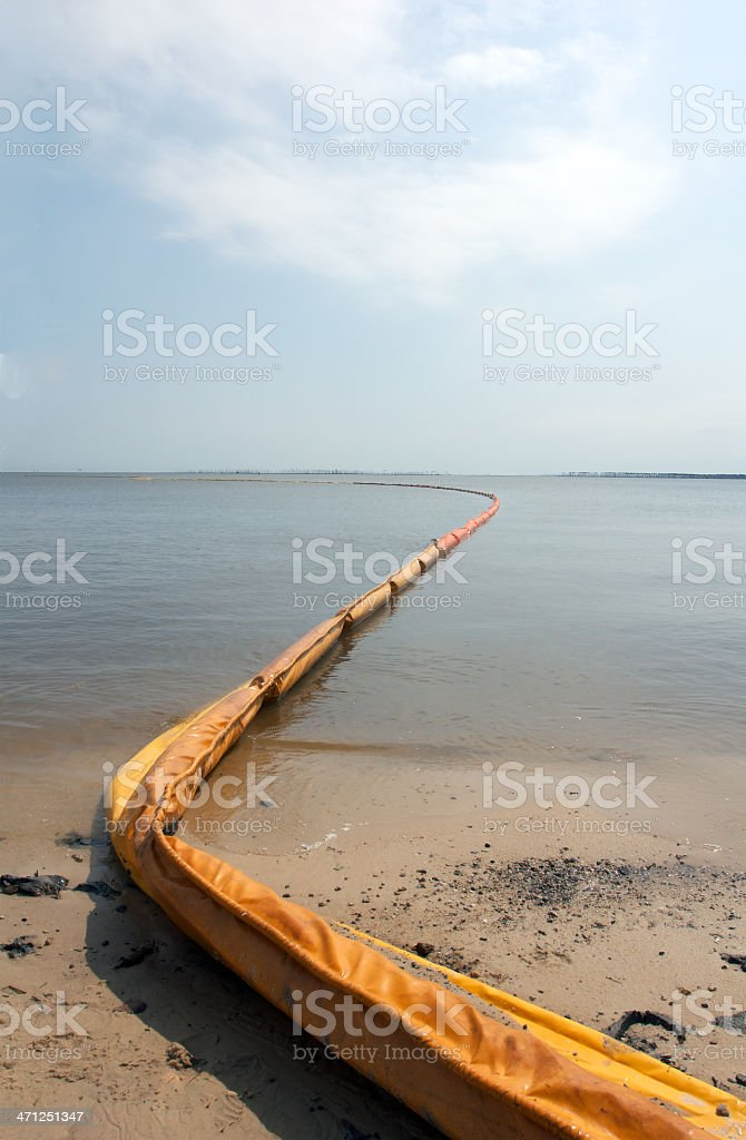 Oil Containment Boom royalty-free stock photo