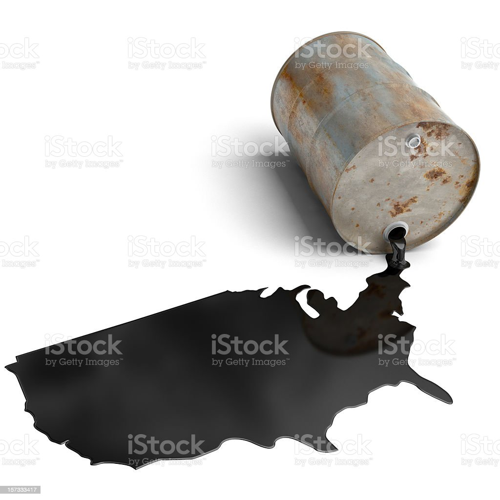 Oil Crisis in the USA royalty-free stock photo