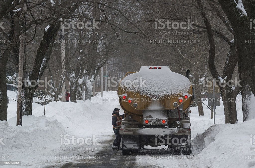 Oil Delivery stock photo