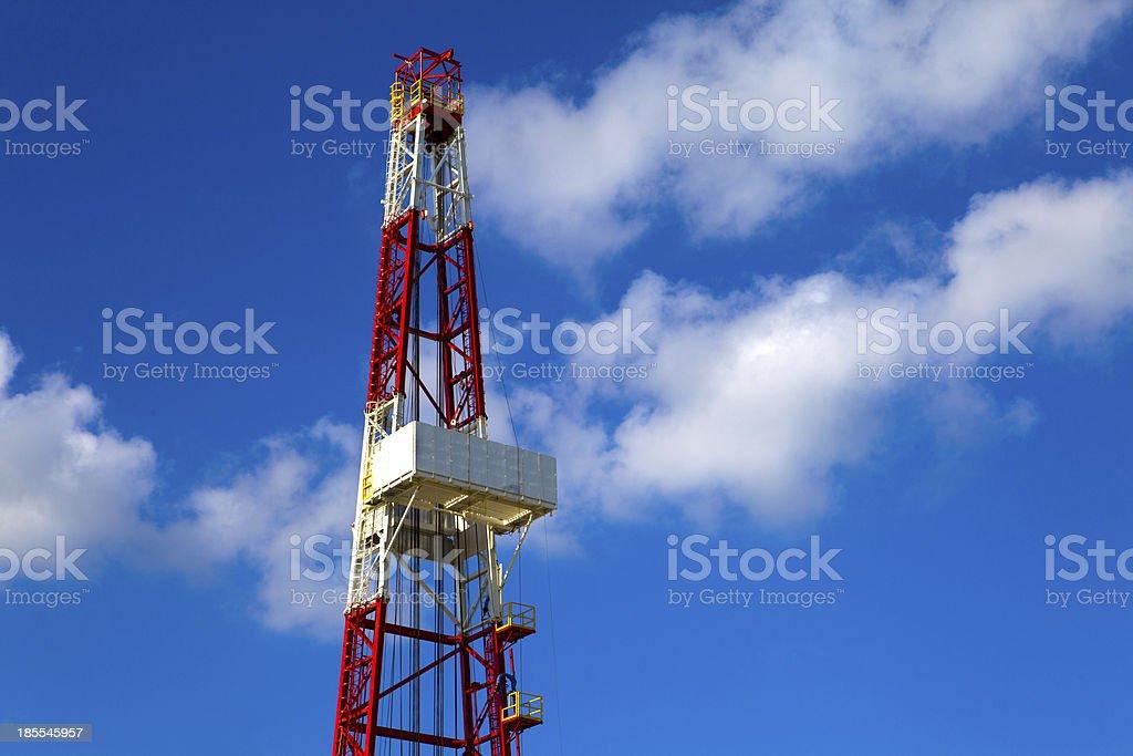 Oil derrick royalty-free stock photo