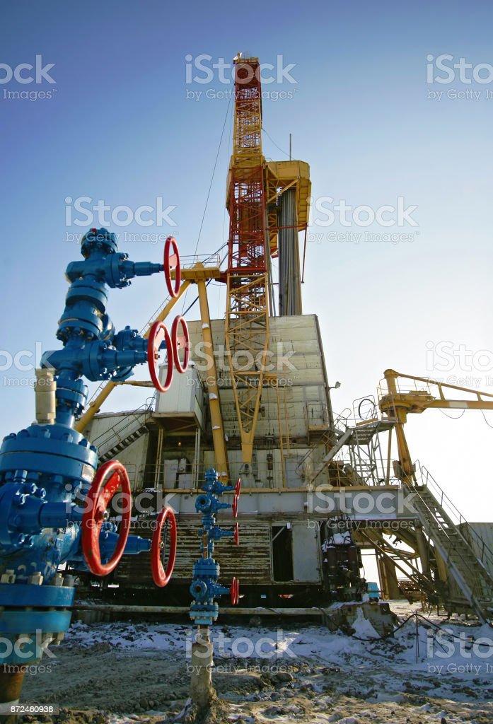 Oil derricks stock photo