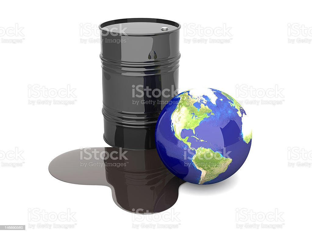 Oil disaster - America royalty-free stock photo