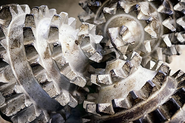 oil drill close-up of an old oil drill drill bit stock pictures, royalty-free photos & images