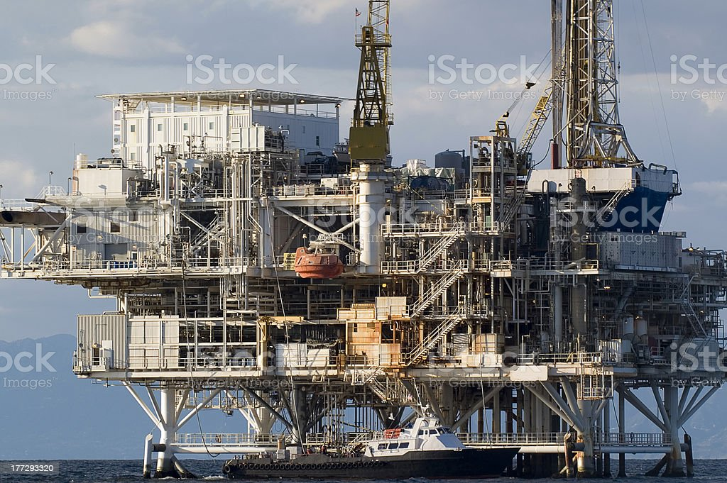 Oil drilling platform royalty-free stock photo