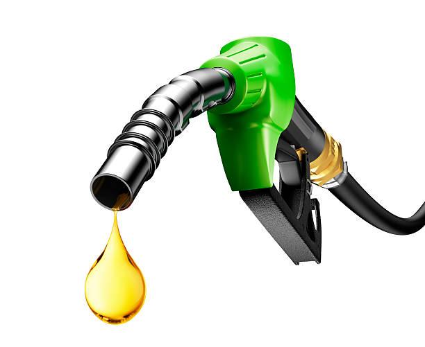 Aceite de bomba de goteo de gasolina - foto de stock