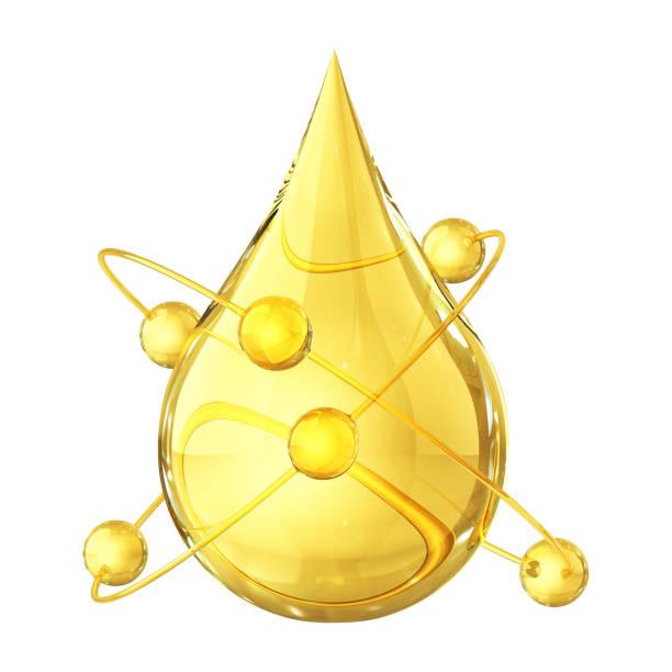 olie druppel atom - fresh start yellow stockfoto's en -beelden