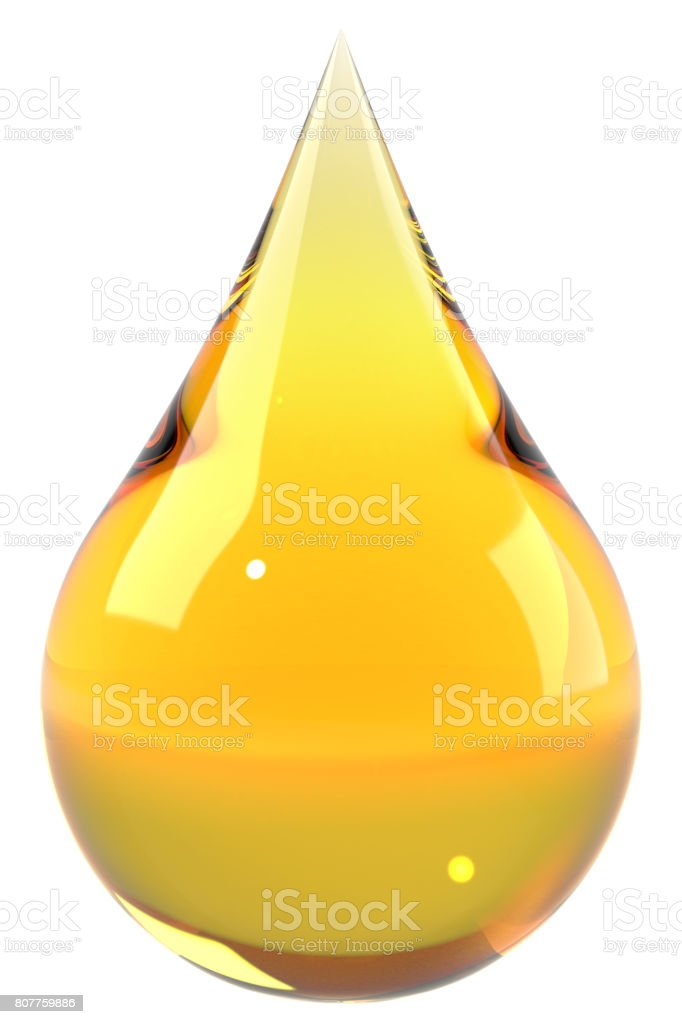 Oil drop isolated on white background stock photo