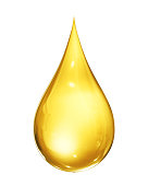 Oil drop isolated on the white background. 3D Render