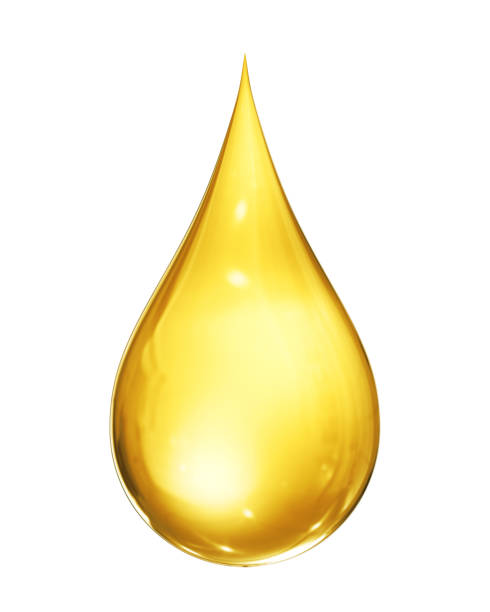 Oil Drop Isolated stock photo