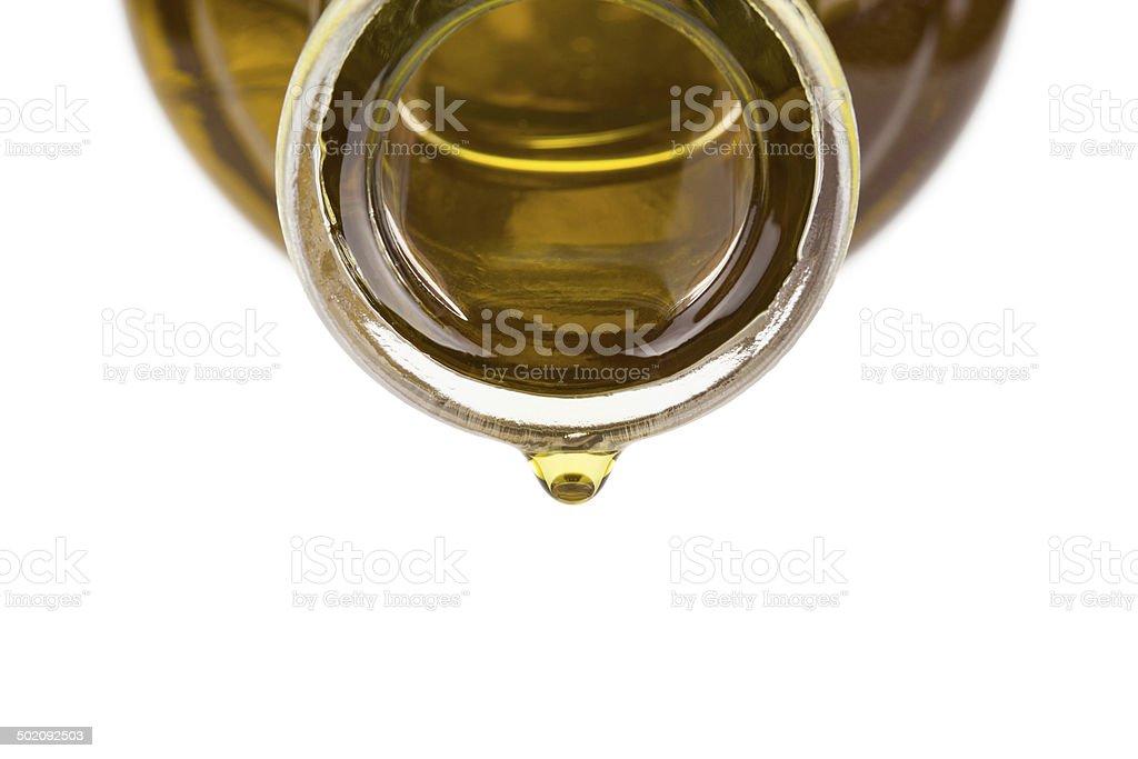 Coleta de óleo em uma garrafa. - foto de acervo