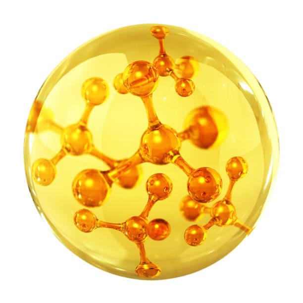 Oil Drop Concept. 3D Render molecule stock pictures, royalty-free photos & images