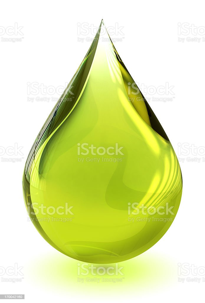 Oil drop (with clipping path) stock photo