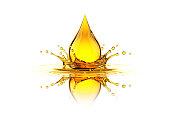 Oil drop splash. Concept. 3D Render